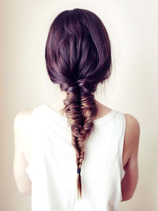 Weekend Hairstyle - The Fishbone Braide