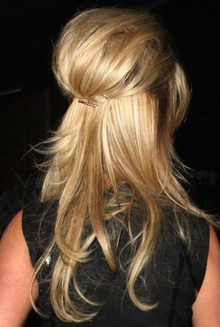 Weekend Hairstyle - The Half Pinned Up-do