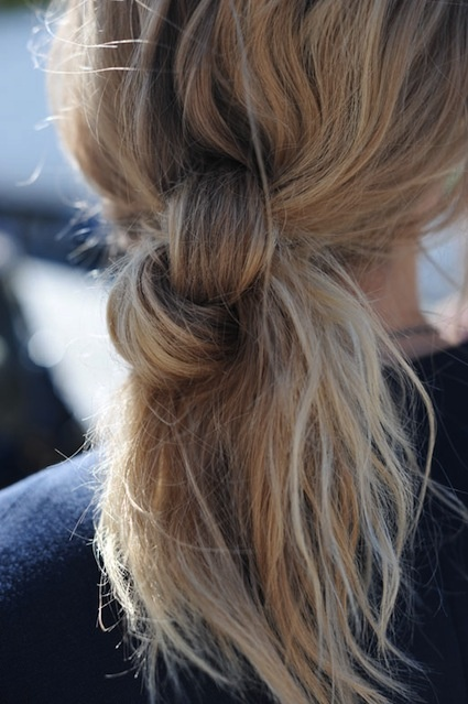 Weekend Hairstyle - The Knotted Bun