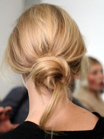 Weekend Hairstyle - The Messy Twist