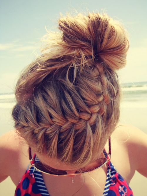 Weekend Hairstyle - The Top Braided Bun