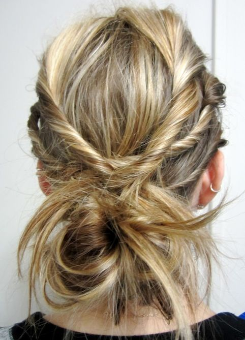 Weekend Hairstyle - The Twisted Braids anf Messy Bun