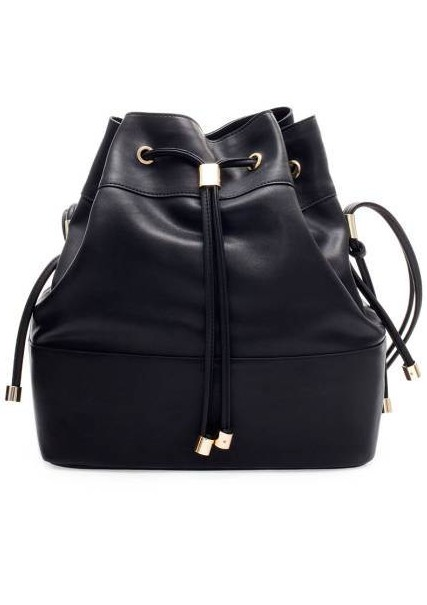 Zara Bucket Bag With Metal Detailing, $79.90