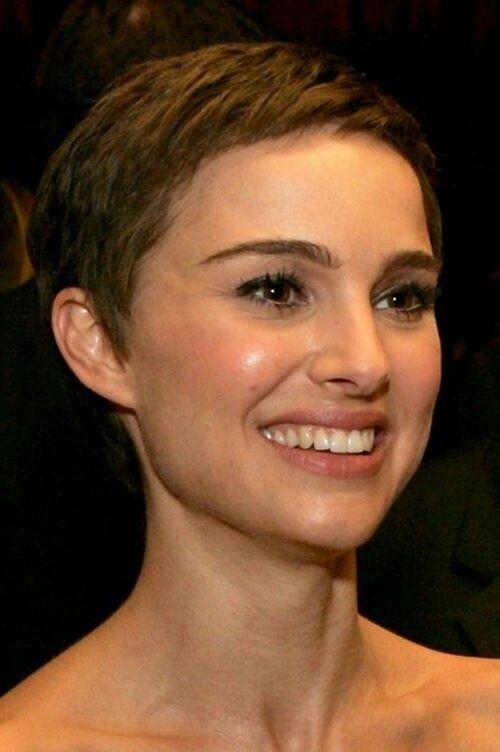Natalie portman short haircut ultra short pixie crop pretty designs