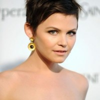 Ginnifer Goodwin Short Haircut: Brunette Pixie Cut with Piecey Bangs