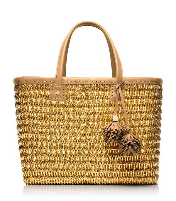 earthy straw tote