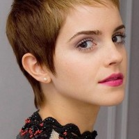 Emma Watson Short Haircut: Blond Dip Dye Ultra-short Pixie Cut