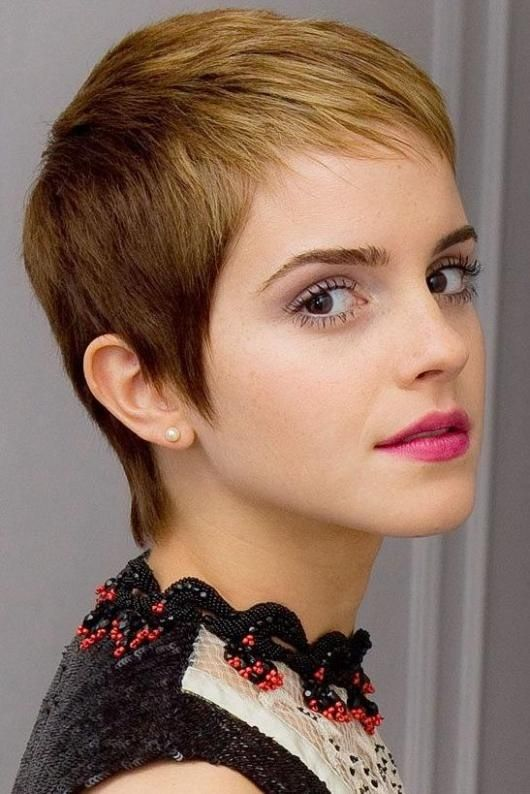 Emma Watson Short Haircut Blond Dip Dye Ultra Pixie Cut