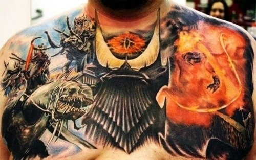 Chest Tattoos for Men - Cool Tattoo Design