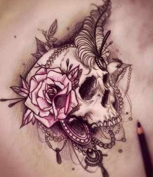 Skull Tattoo - Cool Tattoo Designs