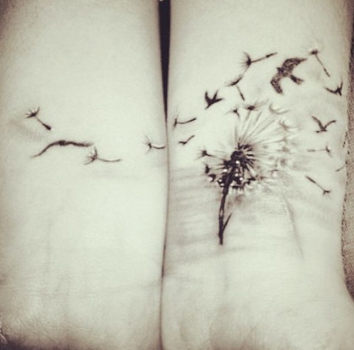 Wrist Tattoos - Cute Dandelion Tattoo on Wrist