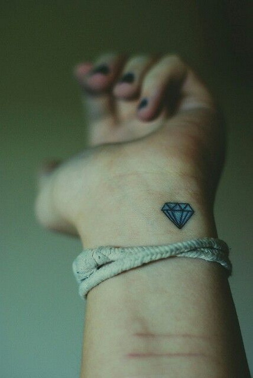 Diamond Tattoo - Wrist Tattoo