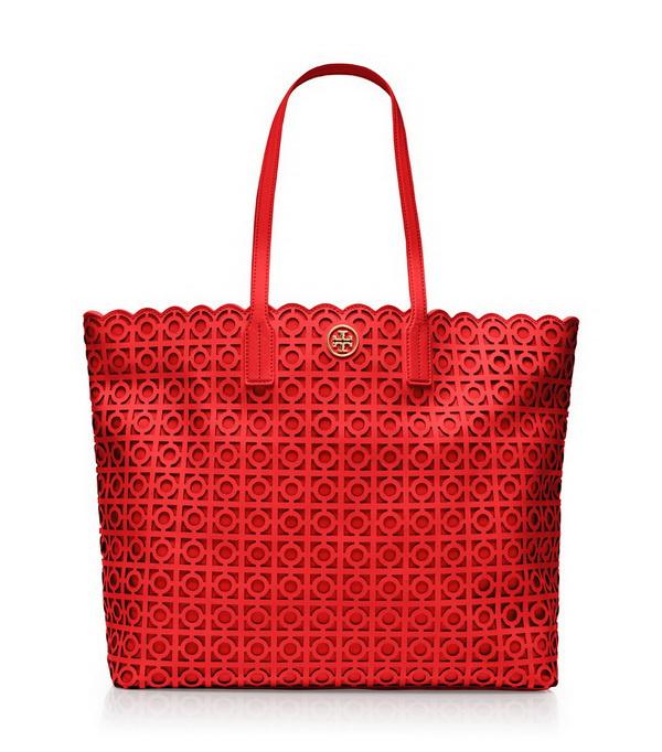 red exquisite tote