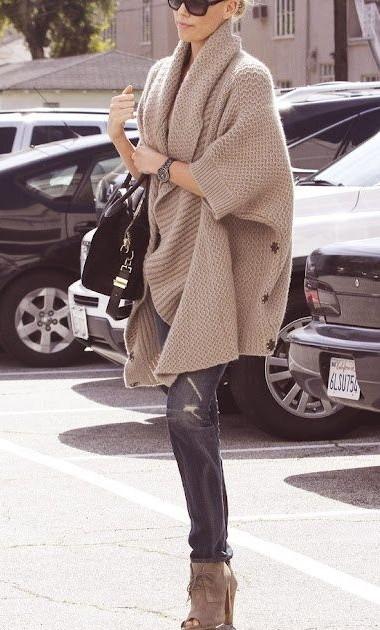 Long Sleeve Grey Sweater - Street Look