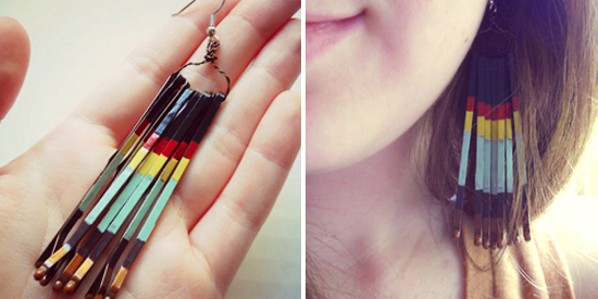 Painted Bobby Pin Earrings