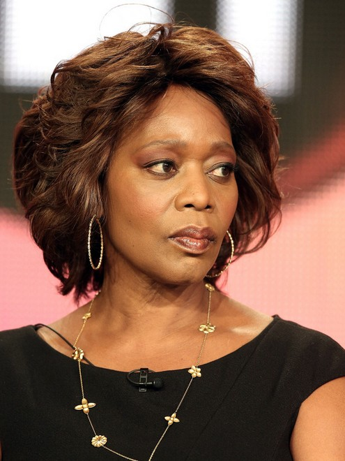 2014 Alfre Woodard's Short Hairstyles: Messy Short Hair