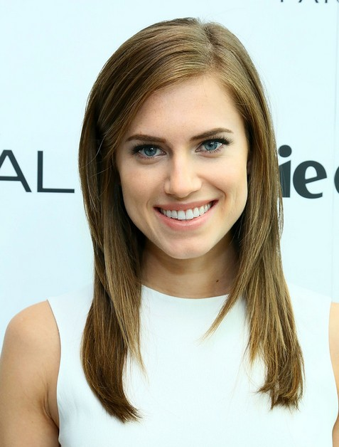 2014 Allison Williams Long Hairstyles: Brown Straight Hair
