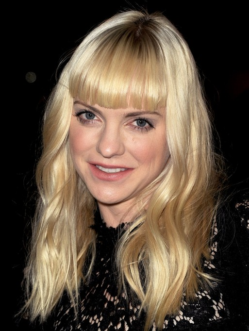 2014 Anna Faris Long Hairstyles: Blonde Hairstyles for Bangs