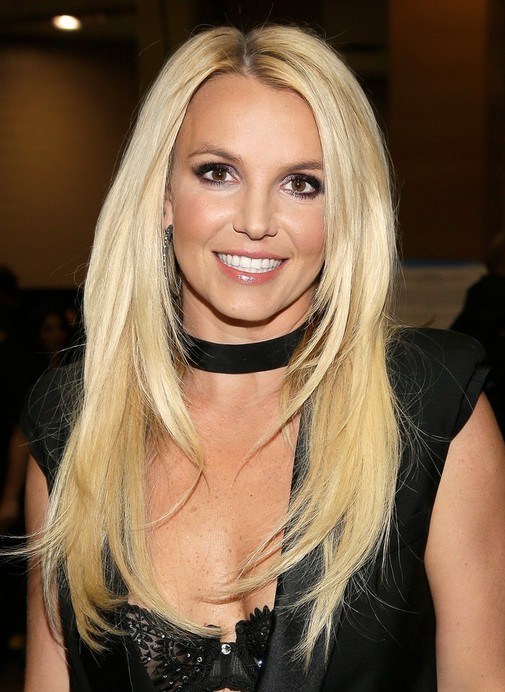 2014 Britney Spears Long Hairstyles: Straight with Blonde Hair