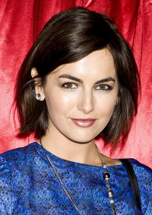 2014 Camilla Belle's Short Hairstyles: Sleek and Shiny Bob for Short Hair