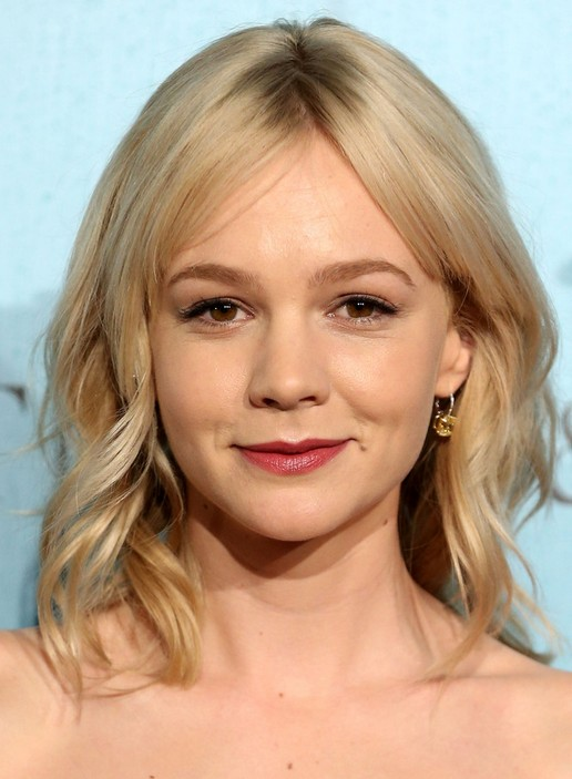 2014 Carey Mulligan Medium Hairstyles: Cute Waves