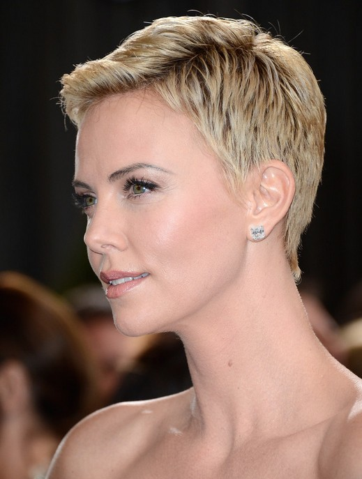 Charlize Theron's Short Haircuts: Very Short Hair /Source: Getty ...