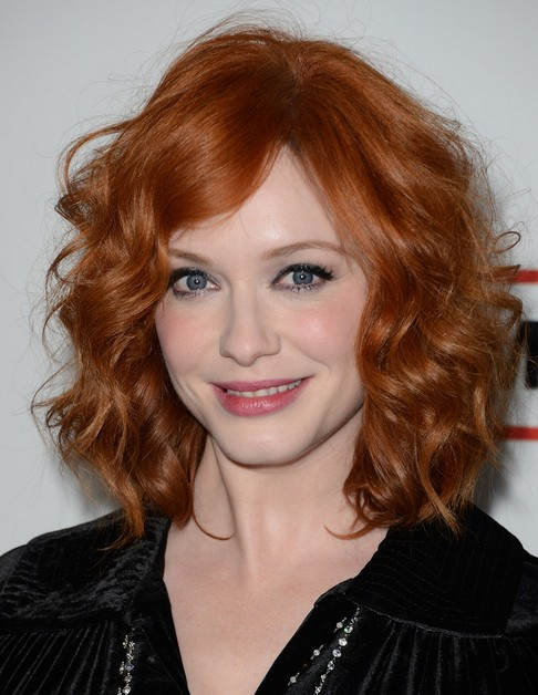2014 Christina Hendricks Medium Hairstyles: Best Curly Hair for Women