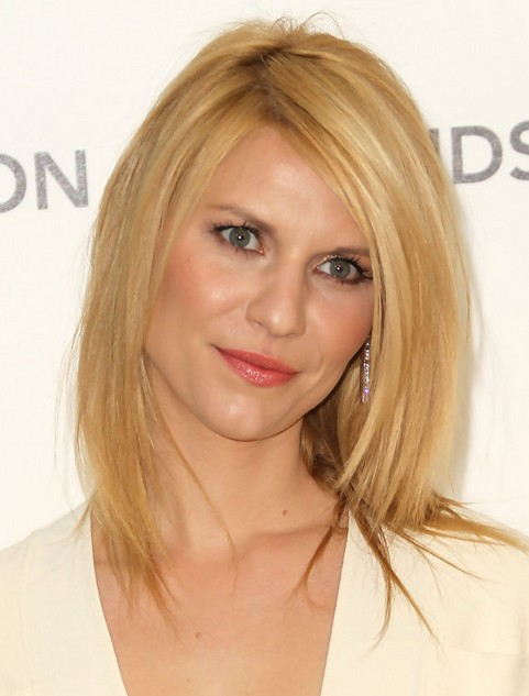 2014 Claire Danes Medium Hairstyles: Blonde Straight Hair