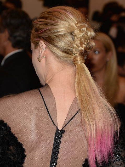2014 Diane Kruger Hairstyles: Low Ponytail for Long Hair