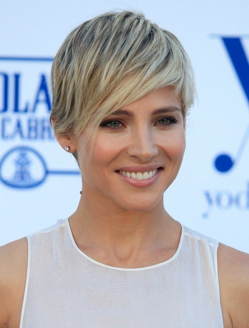 2014 Elsa Pataky's Short Hairstyles: Trendy Layered Pixie Haircut