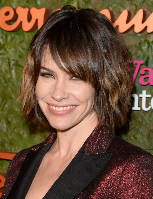 2014 Evangeline Lilly's Short Hairstyles: Pretty, Slightly-wavy Bob