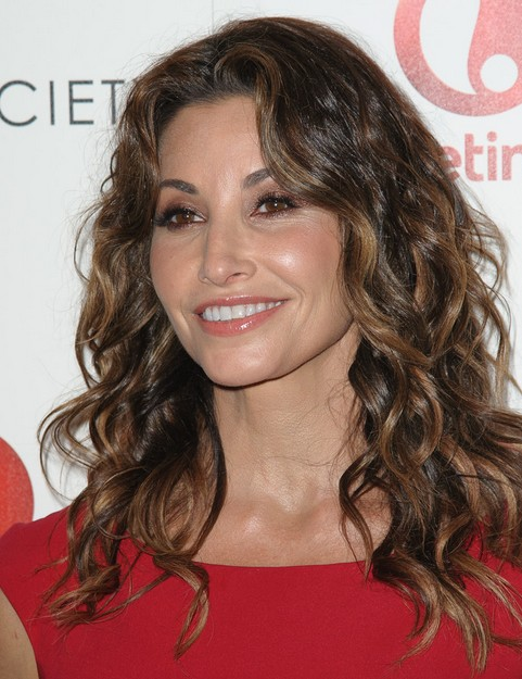 2014 Gina Gershon Hairstyles: Long Curly Hair