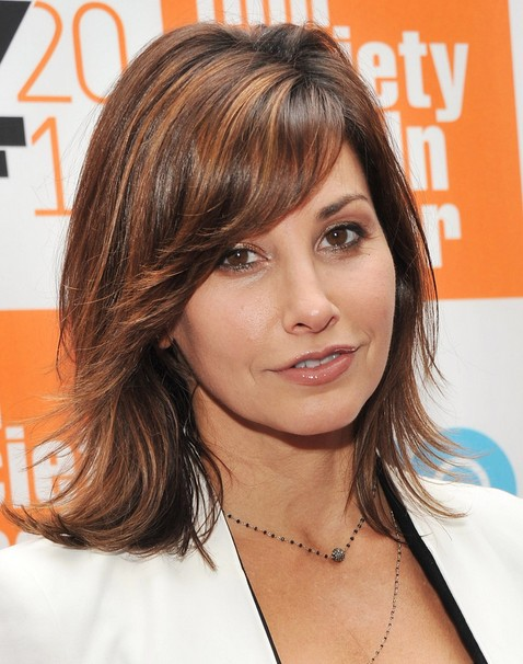2014 Gina Gershon Medium Haircut