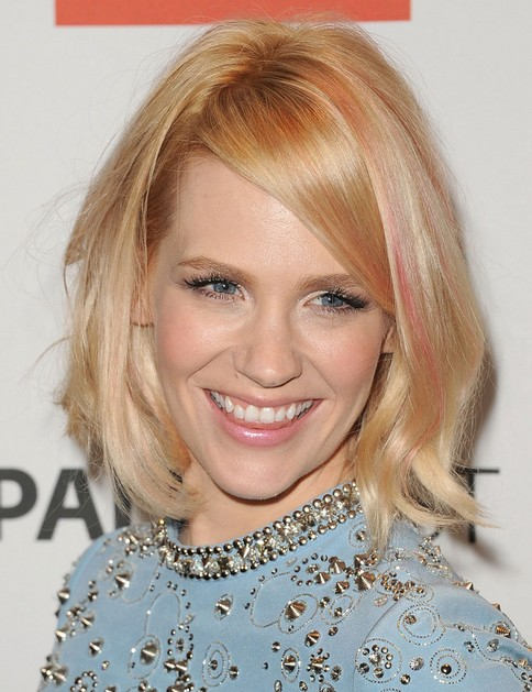 2014 January Jones Medium Hairstyles