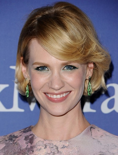 2014 January Jones' Short Hairstyles: Ombre Bob