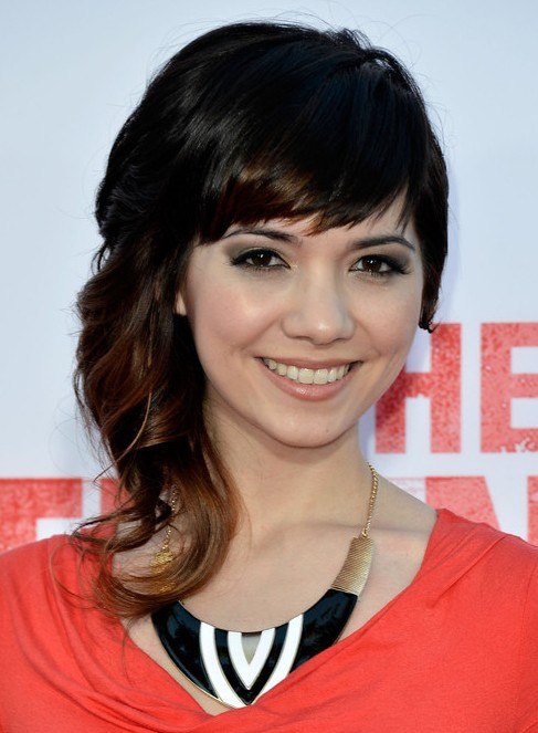 2014 Jean Whalen Long Hairstyles: Big Curly Hairstyle with Short Bangs