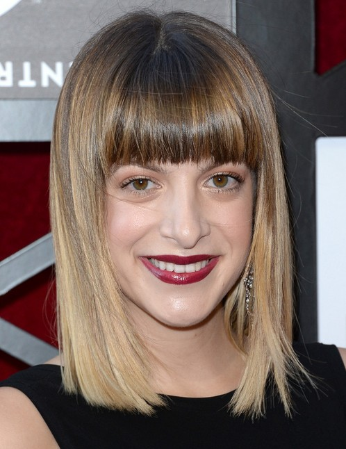 2014 Julia Stephens Medium Hairstyles: Blunt Haircut