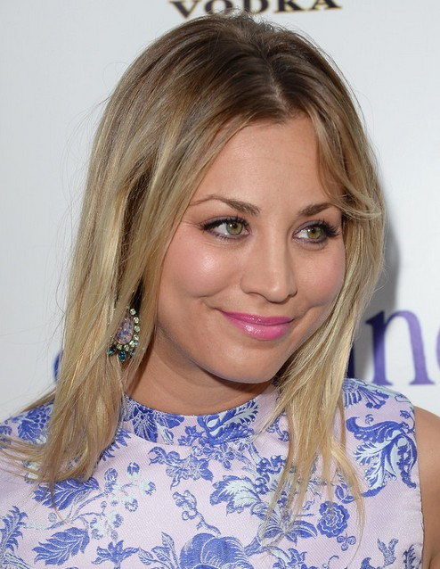 2014 Kaley Cuoco Medium Hairstyles