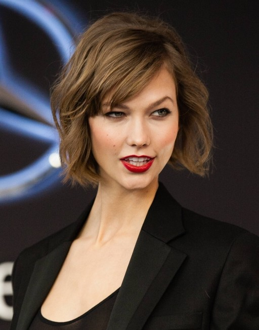 2014 Karlie Kloss' Short Hairstyles: Wavy Haircut for Short Hair