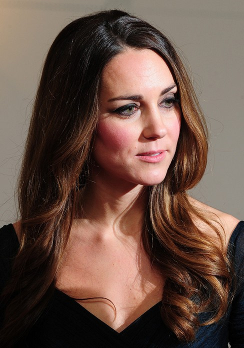 2014 Kate Middleton Hairstyles: Formal Long Hair