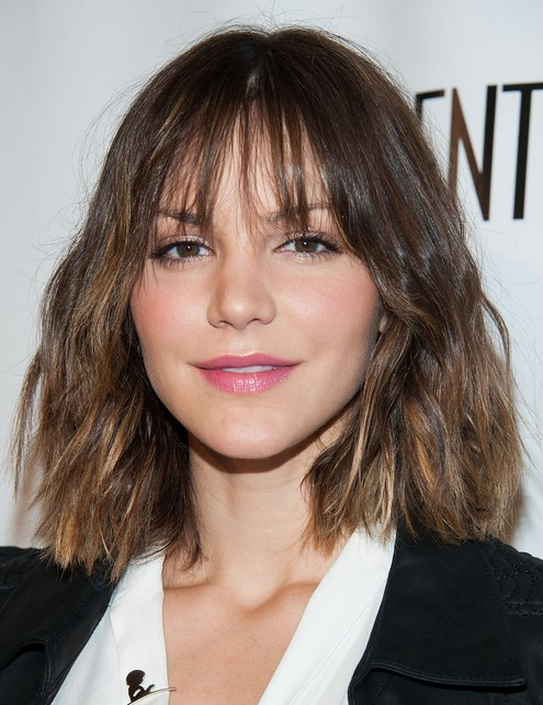 2014 Katharine McPhee's Short Hairstyles: Blunt Layered Haircut