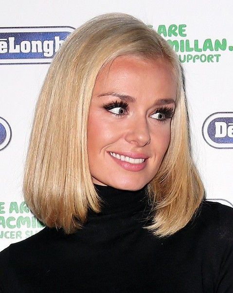 2014 Katherine Jenkins Medium Hairstyles: Straight Bob