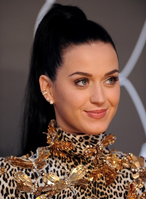 2014 Katy Perry Hairstyles: High Ponytail for Long Hair