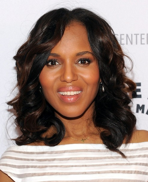 2014 Kerry Washington Medium Hairstyles: Curly Hairstyle for African American Women
