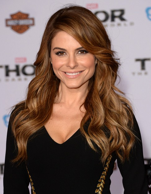 2014 Maria Menounos Long Hairstyles: Brown Soft Wavy Hair