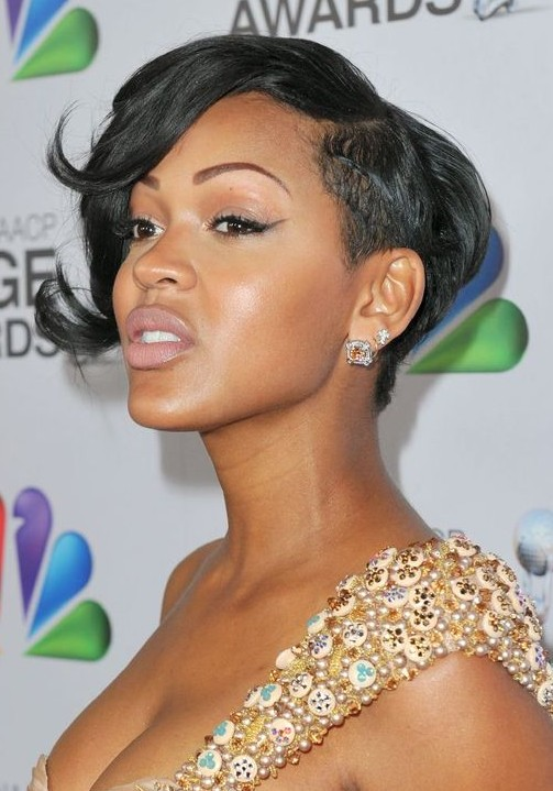 2014 Meagan Good\'s Short Hairstyles: Trendy Haircut for Black ...