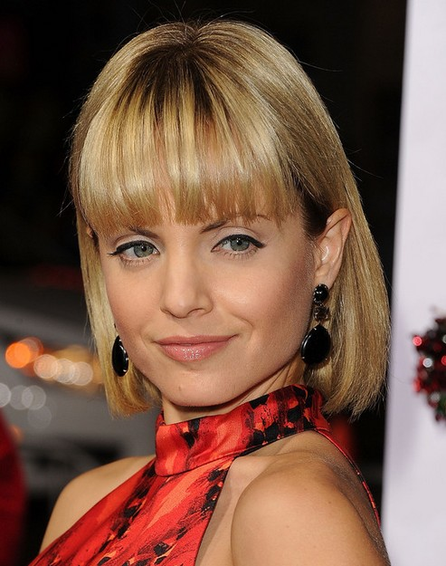 2014 Mena Suvari Medium Hairstyles: Blonde Bob