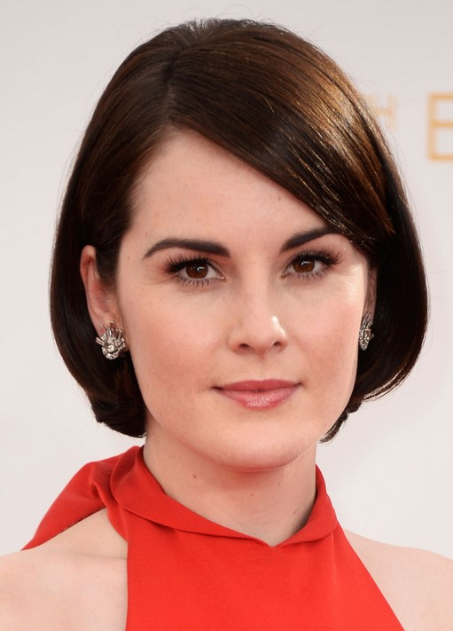 2014 Michelle Dockery's Short Hairstyles: Sleek Bob