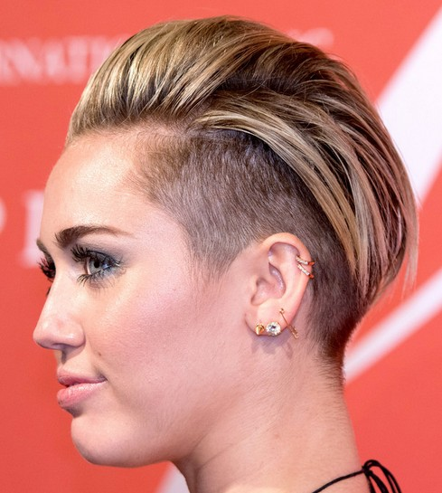 2014 Miley Cyrus Hairstyles: Trendy Short Haircut