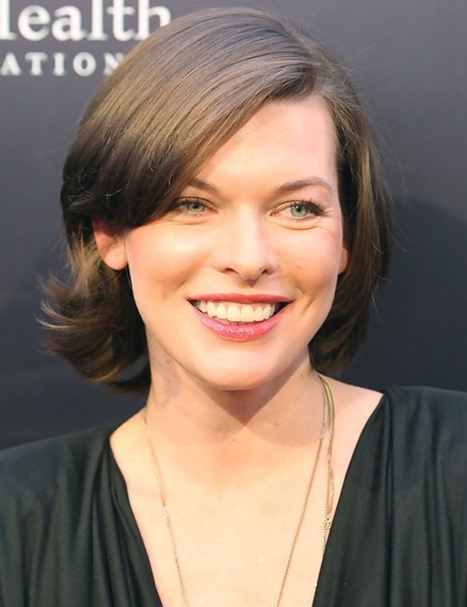 2014 Milla Jovovich's Short Hairstyles: Cute Haircut